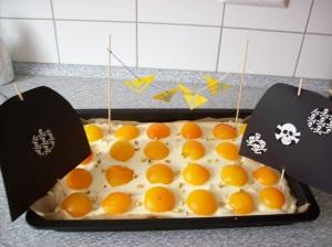 Piraten-Spiegelei-Kuchen