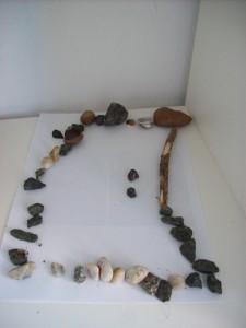 Steine geordnet